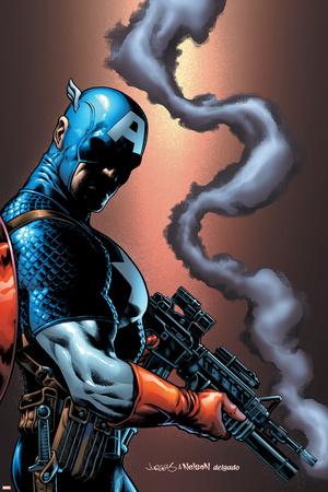 Captain America And The Falcon No.13 Cover: Captain America Print by Dan Jurgens
