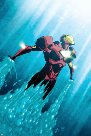 Marvel Adventures Iron Man No.5 Cover: Iron Man Poster by Skottie Young