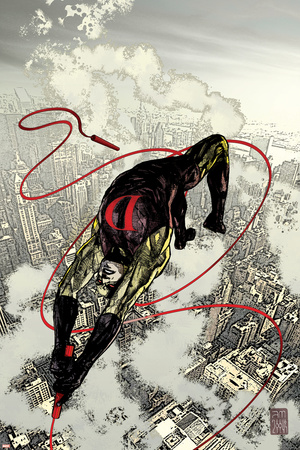 Daredevil No.66 Cover: Daredevil Fighting and Flying Photo by Alex Maleev
