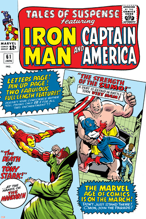 Tales Of Suspense No.61 Cover: Iron Man, Captain America, Sumo and Mandarin Fighting Prints by Don Heck