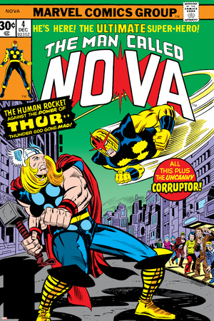 Nova: Origin Of Richard Rider - The Man Called Nova No.4 Cover: Nova and Thor Prints by Sal Buscema