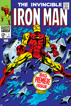 The Invincible Iron Man No.1 Cover: Iron Man Plakat af Gene Colan