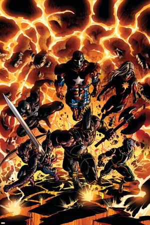 Dark Avengers No.2 Cover: Iron Patriot, Ares, Ms. Marvel, Marvel Boy, Hawkeye and Spider-Man Posters by Mike Deodato