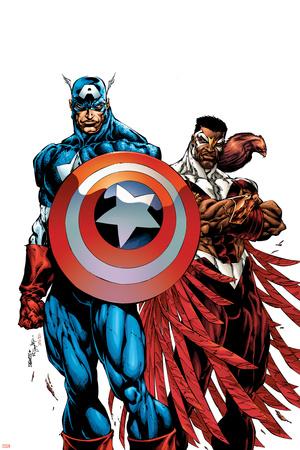 Captain America & The Falcon No.1 Cover: Captain America and Falcon Poster by Bart Sears