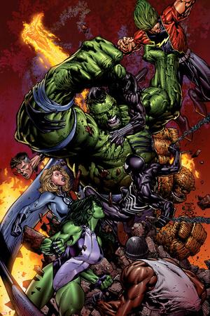 World War Hulk No.2 Cover: Hulk Posters by David Finch