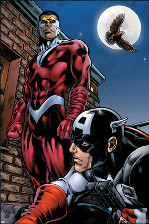 Captain America And The Falcon No.13 Cover: Captain America and Falcon Posters by Dan Jurgens