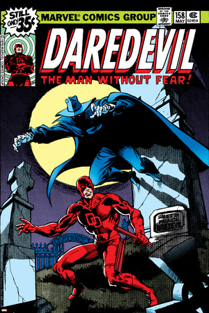 Daredevil No.158 Cover: Daredevil and Death-Stalker Print by Frank Miller