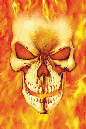 Ghost Rider No.15 Headshot: Ghost Rider Poster by Mark Texeira