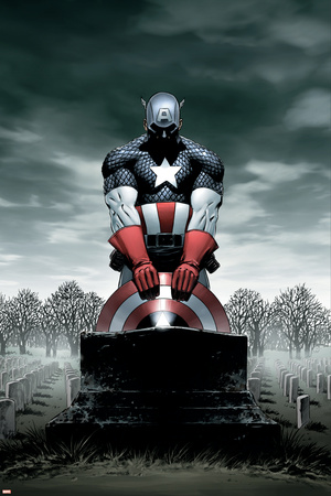 Captain America No.4 Cover: Captain America Póster