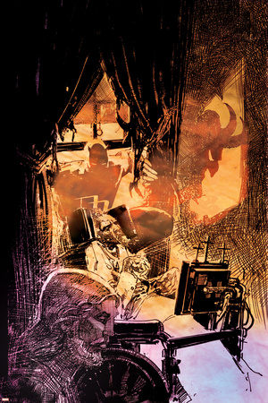 Daredevil: Redemption No.4 Cover: Daredevil Fighting and Flying Prints by Bill Sienkiewicz