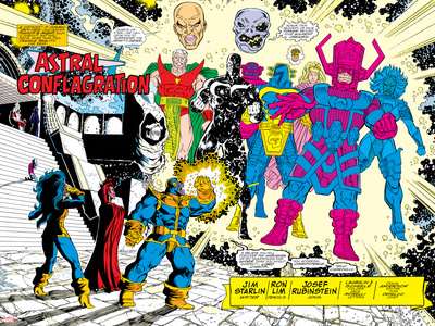 Infinity Gauntlet No.5 Group: Thanos Posters by George Perez