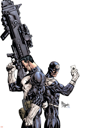 Punisher Vs. Bullseye No.1 Cover: Punisher and Bullseye Poster by Mike Deodato