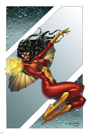 Giant-Size Spider-Woman No.1 Cover: Spider Woman Posters by Andrea Di Vito