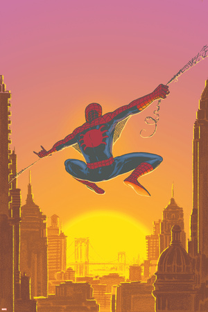 Spectacular Spider-Man No.27 Cover: Spider-Man Swinging Prints by Mark Buckingham
