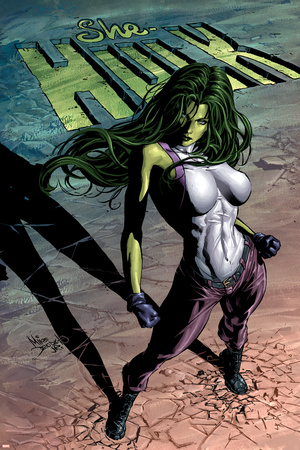 She-Hulk No.29 Cover: She-Hulk Poster by Mike Deodato