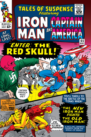 Tales Of Suspense No.65 Cover: Iron Man, Captain America, Bucky and Red Skull Swinging Print by Don Heck