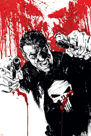 Punisher War Journal No.17 Cover: Punisher Print by Alex Maleev