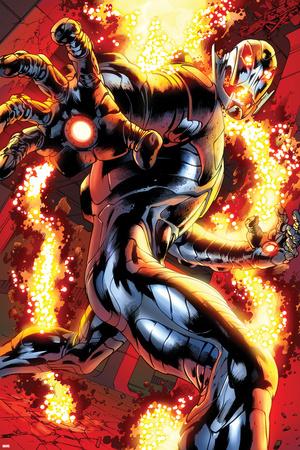Avengers No.12.1: Ultron Running Print by Bryan Hitch