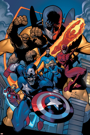 Marvel Knights Spider-Man No.11 Group: Captain America Láminas por Terry Dodson
