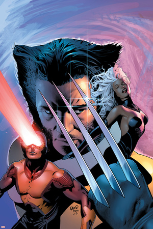 X-Men: The End No.1 Cover: Wolverine, Cyclops and Storm Print by Greg Land