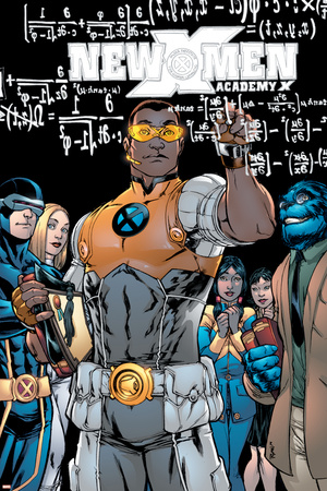 New X-Men No.10 Cover: Prodigy, Beast and Cyclops Photo by Michael Ryan