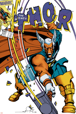 The Mighty Thor No.337 Cover: Beta-Ray Bill Poster by Walt Simonson