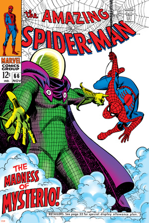 The Amazing Spider-Man No.66 Cover: Mysterio and Spider-Man Fighting Prints by John
