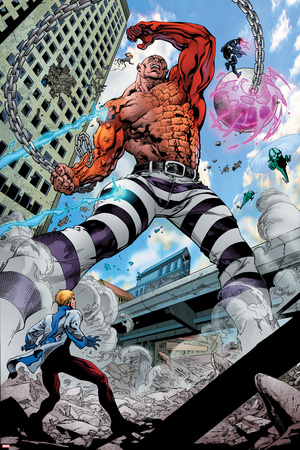 Avengers Academy No.7: Absorbing Man Fighting Photo by Mike McKone