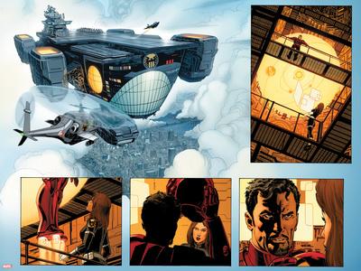 Captain Marvel No.2: Marvel Universe Print by Lee Weeks