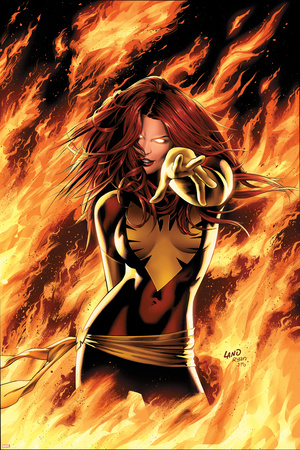 X-Men: Phoenix - Endsong No.1 Cover: Phoenix, Grey and Jean Poster by Greg Land