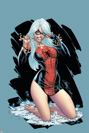 The Amazing Spider-Man No.607 Cover: Black Cat Posters by J. Scott Campbell