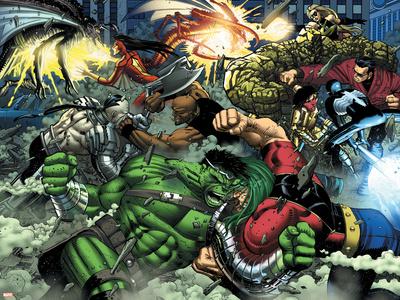 World War Hulk No.2 Group: Hulk Poster by John Romita Jr.