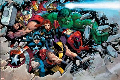 Son of Marvel Reading Chronology Cover: Thor Plakat
