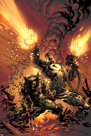Wolverine Punisher No.1 Cover: Wolverine and Punisher Posters by Mike Deodato