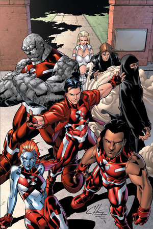 New X-Men: Hellions No.1 Group: Dust, Rockslide, Wither, Mercury and Tag Prints by Clayton Henry
