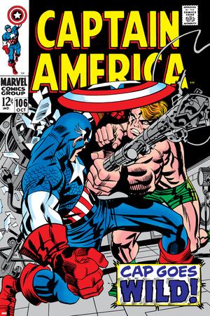 Marvel Comics Retro: Captain America Comic Book Cover No.106, Cap Goes Wild Photo