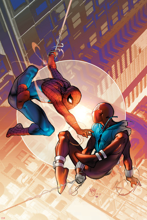 Spider-Man: The Clone Saga No.1 Cover: Spider-Man and Scarlet Spider Posters by Pasqual Ferry
