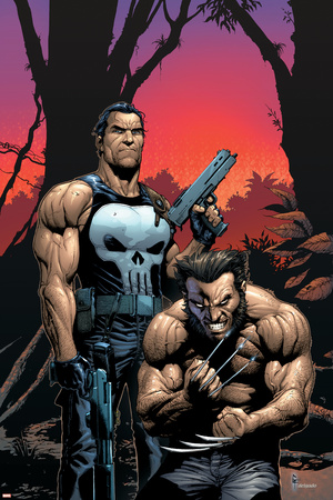 The Punisher-Wolverine comic book artwork Punisher art merchandise by Gary Frank