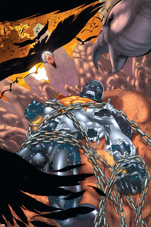Captain Marvel No.22 Cover: Captain Marvel Prints by Chris Cross