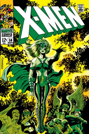 X-Men No.51 Cover: Dane, Lorna and X-Men Print by Jim Steranko