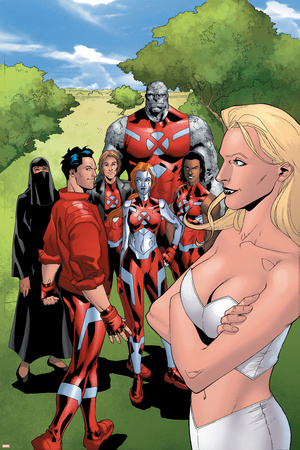 New X-Men: Hellions No.4 Group: Dust, Mercury, Hellion, Rockslide, Tag, Emma Frost Poster by Clayton Henry