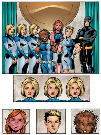 New X-Men: Academy X Yearbook Group: Stepford Cuckoos Prints by Georges Jeanty