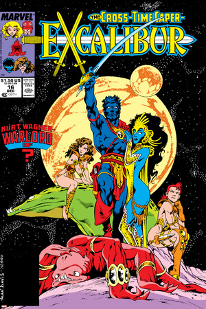 Excalibur No.16 Cover: Nightcrawler, Phoenix, Shadowcat and Kymri Posters by Alan Davis