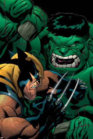 World War Hulk: X-Men No.2 Cover: Wolverine and Hulk Posters by Ed McGuinness