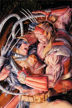 Omega Red versus Wolverine, Origins issue number 38 artwork by Doug Braithwaite