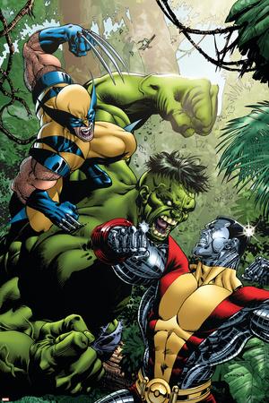 X-Men Vs Hulk No.1 Cover: Wolverine, Colossus and Hulk Posters by David Yardin