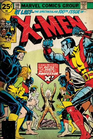 Marvel Comics Retro: The X-Men Comic Book Cover No.100, Professor X (aged) Poster