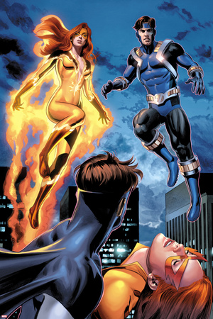 I Am An Avenger No.2: Firestar and Justice Flying Photo by Mike Mayhew