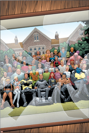 New X-Men No.126 Cover: Professor X, Cyclops, Grey, Jean, Wolverine and Beast Posters by Frank Quitely