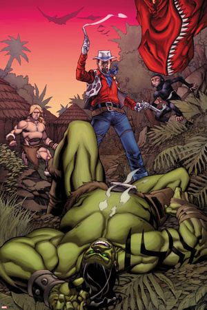 Skaar: King of The Savage Land No.3 Cover: Skaar, Ka-Zar, Moon Boy Posters by Chris Stevens